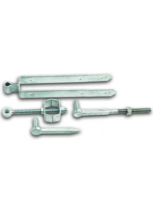 Adjustable hinge set field gate fixing 12