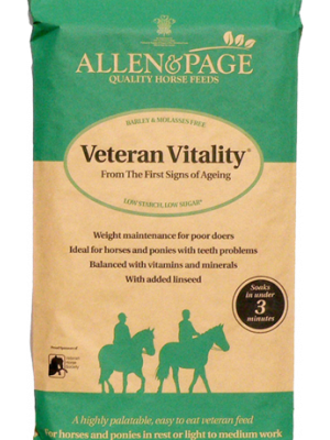Allen & Page Veteran Vitality - Horse Feed - 20kg