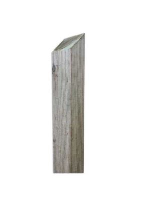 Close Board Fence Posts Weather Top  2.4 Metre x 75mm x 150mm Green