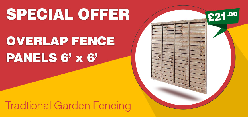 overlap fence panel special offer price