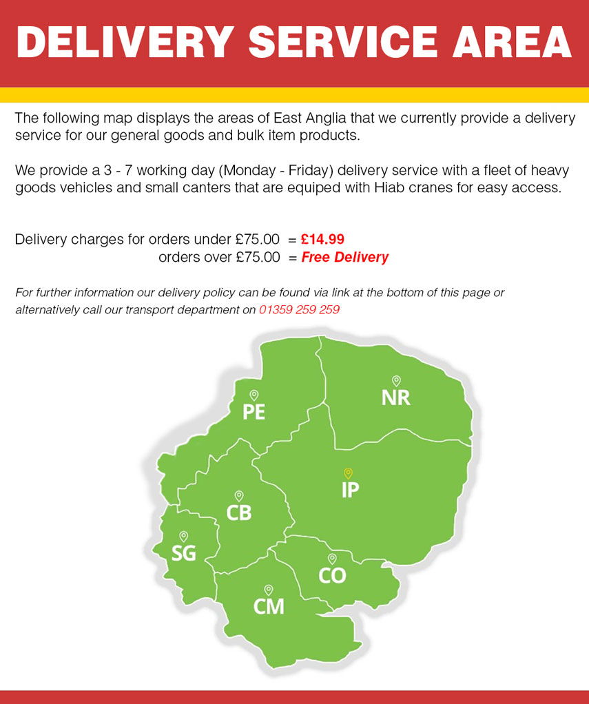 Clarkes of walsham delivery area